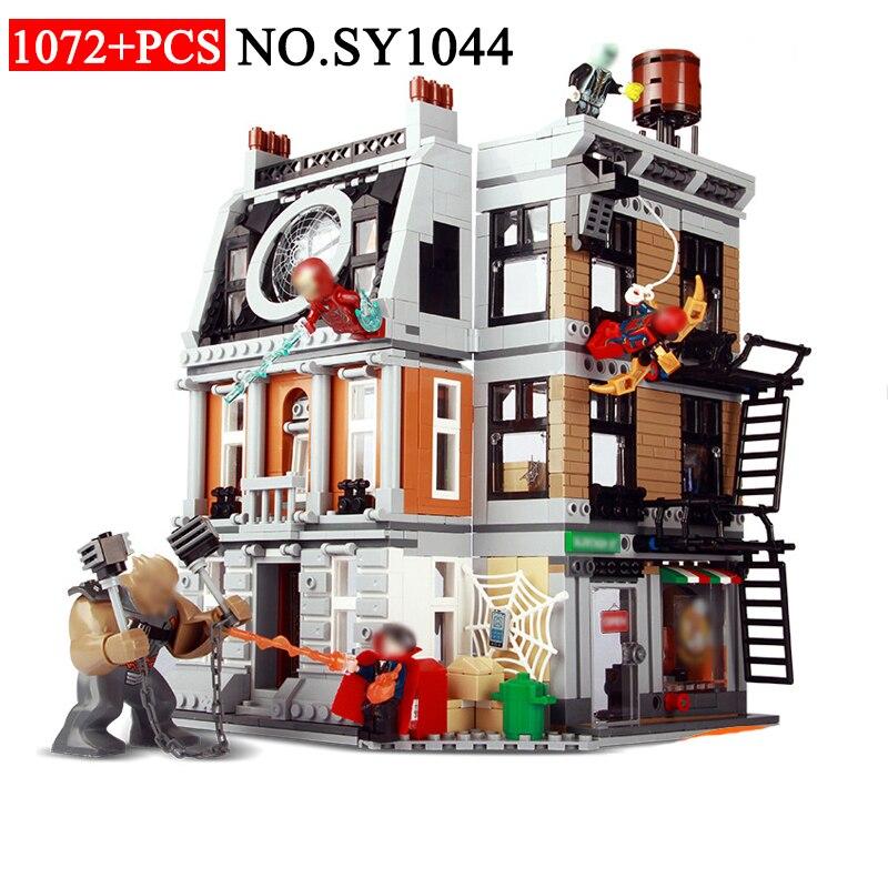 SY1044 10840 マーベルのスーパーヒーローシリーズインナーエリュシオン Sanctorum 対決ビルディングブロックと互換性のおもちゃ 76108 おもちゃ子供のため  グループ上の おもちゃ & ホビー からの ブロック の中 1