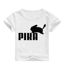 все цены на 2019 Summer Pokemon Detective Pikachu T Shirt Kids Printed T-shirts Boys Short Sleeve Tshirt Casual Girls Streetwear
