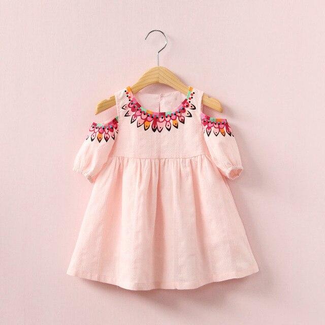 7a53bad1eb0f Off Shoulder Design Baby Girl Summer Dress Cute Print Children ...