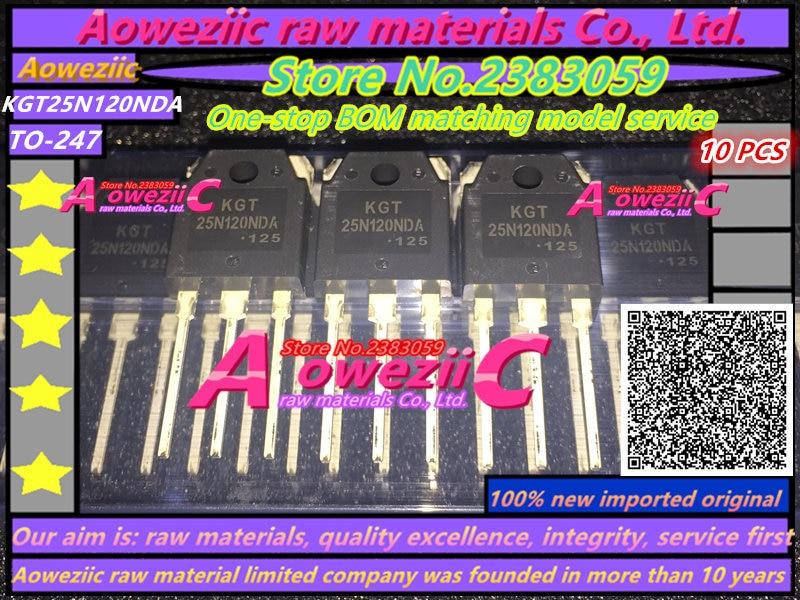 Aoweziic 100 % 신규 수입 원래 25N120NDA KGT25N120NDA TO-3P 25A1200V 전자 오븐 전원 튜브