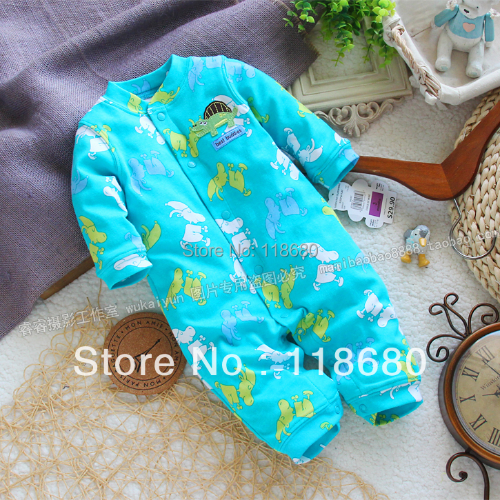 new 2016 spring autumn baby romper baby clothing kids 100% cotton long-sleeve rompers newborn baby girls overall baby wear