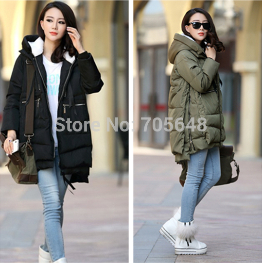 2016 On Sale Winter thick Warm Down Jacket Ladies Coats Feather Snow Coats Plus Size Fur Collar Hooded Women Medium-long Jackets