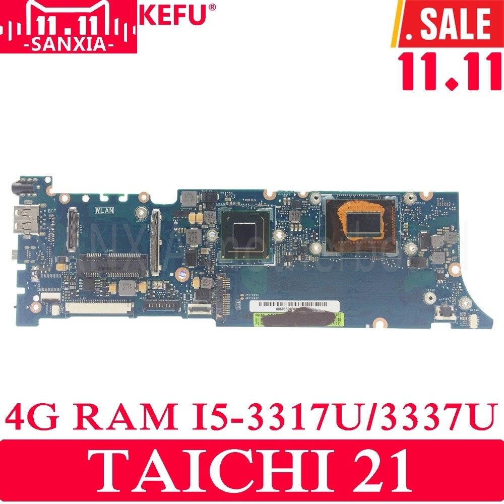 KEFU TAICHI21 Laptop motherboard for ASUS TAICHI 21 Test original mainboard 4G-RAM I5-3317U/3337U 100% new i5 3337u sroxl sr0xl bga chipset