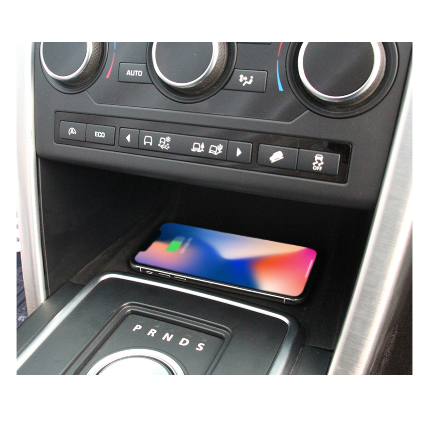 Liislee For Land Rover Discovery Sport 2015~2018 Car Sundries Box Wireless Charger Car Quick Charge Fast Mobile Phone Car Charge - 3
