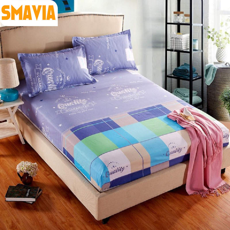2016 Whole Sale Bed Sheet Printed Bed protection Mattress Polyester Bed Cover with 2 pillowcase 120*200cm/150*200cm/180*200cm