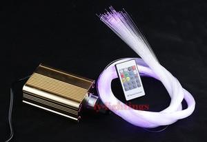 Kit de luz de fibra óptica DIY 25W luz led + 3m fibras ópticas RGB luces colgantes candelabro moderno luz de techo estrella