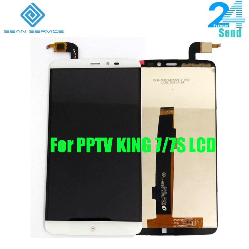 Original pptv King 7/7 s LCD display + TP pantalla táctil digitizador Asamblea 6.0 pulgadas 2560x1440 p pptv teléfono LCD en stock + Herramientas