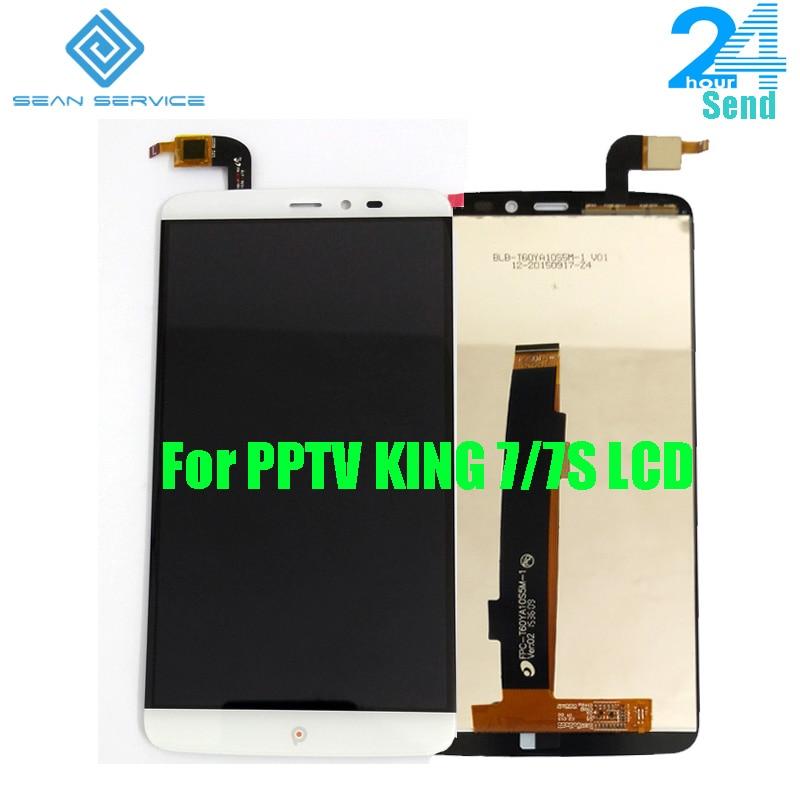 Pour D'origine PPTV ROI 7/7 S LCD Display + TP Écran Tactile Digitizer Assemblée 6.0 pouce 2560x1440 P PPTV Téléphone LCD en Stock + outils