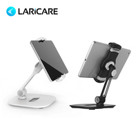 LARICARE Aluminum Car Tablet Phone Stand, Champ Holder , Desk Adjustable Tablet Support Stand Holder For Iphone Xiaomi LD 204