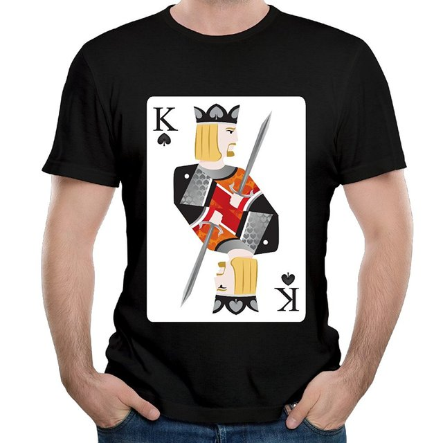 Poker Card King of Spades Playing Card Costume Casual Novelty Graphic Cool Short Sleeve Tees Unique  sc 1 st  AliExpress.com & Poker Card King of Spades Playing Card Costume Casual Novelty ...
