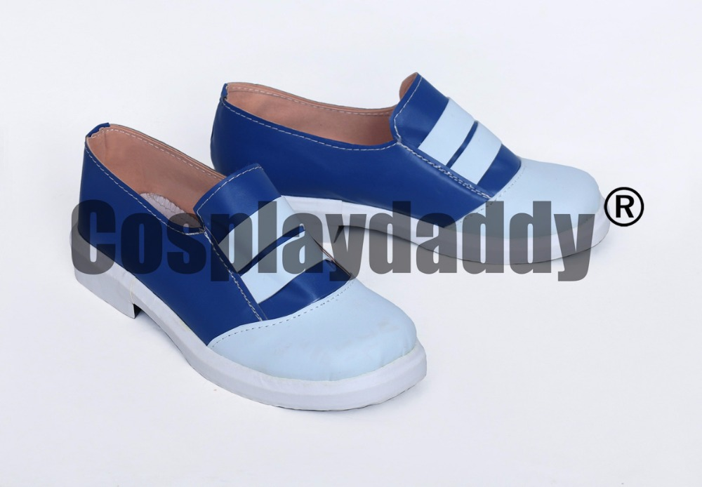 Pokemon Go Game Female Trainer Blue White Cosplay Shoes S008