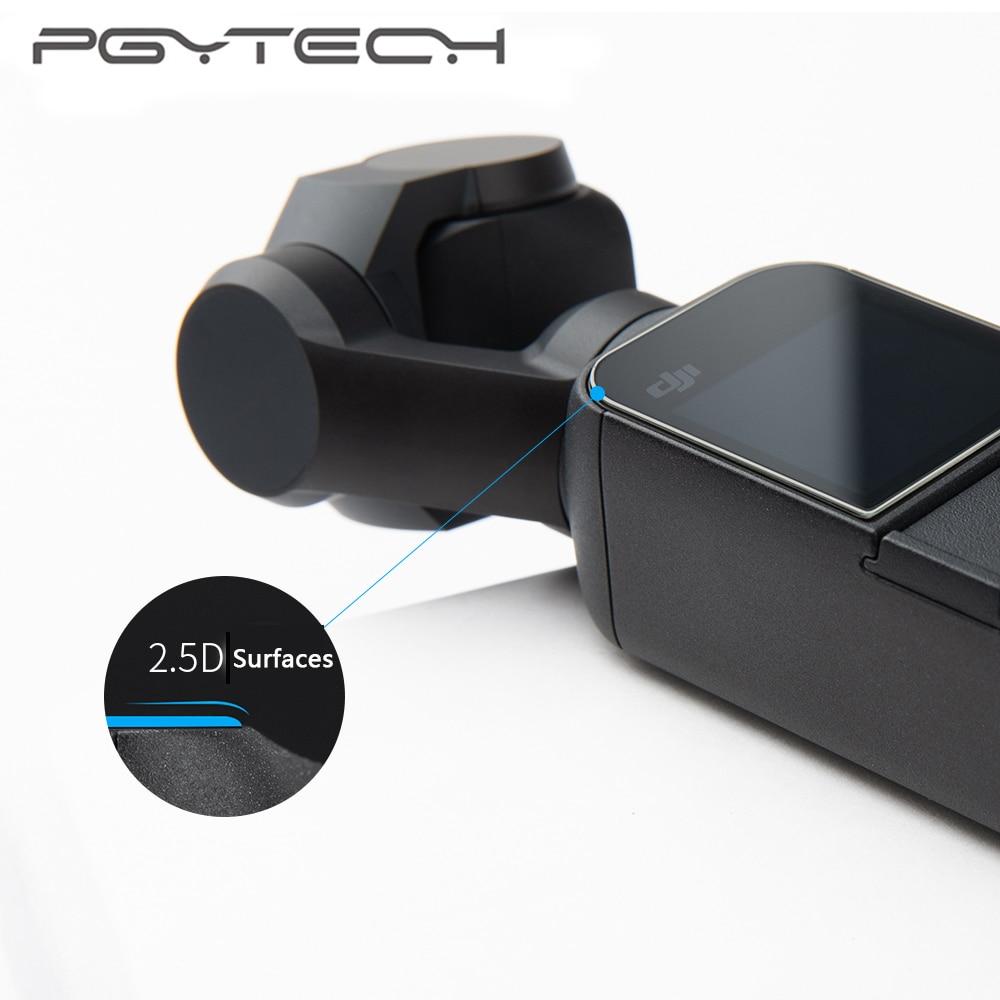 2 piezas PGYTECH DJI OSMO bolsillo Film Protector de pantalla de vidrio templado accesorios OSMO bolsillo cardán de la película