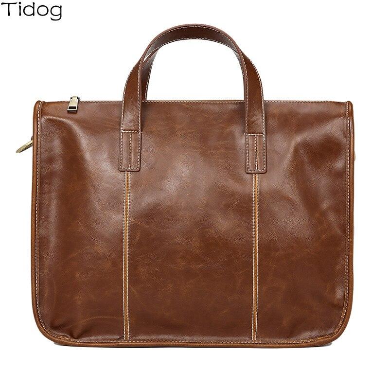 Tidog Korean Fashion Business Retro Briefcase