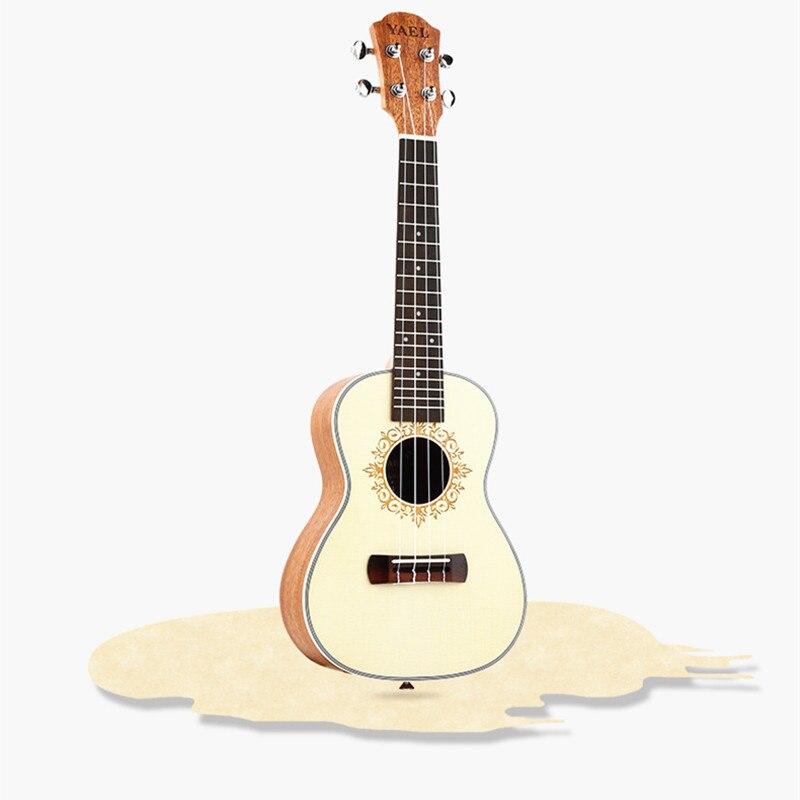 Ukulele 23 Acoustic Ukelele Mahogany Ukulele 4 Strings Guitar Guitarra Instrument Y-08 ukulele 23 26 inch mini hawaiian guitar mahogany concert tenor cutaway acoustic electric 4 strings ukelele guitarra