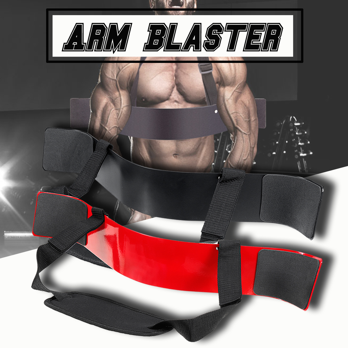 SGODDE Heavy Arm Isolator Body Building Bomber Bicep Curl Triceps Curl Triceps Muscle Training Fitness Gym Equipmen