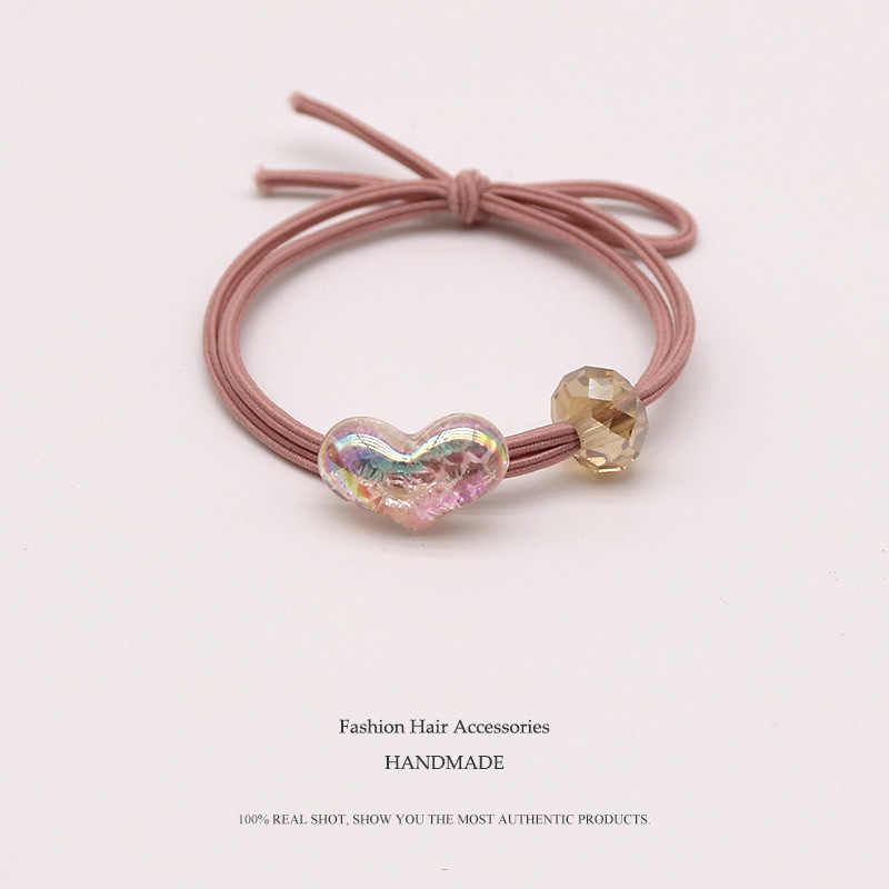 High Quality Popular Elastic Hair Bands Transparent Love Headband Women's Round Rubber Band Lady Hair Accessories Scrunchie
