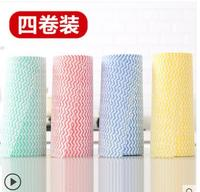 Disposable absorbent rag dish towel 5 rolls Kitchen dish cloth cleaning cloth wipe tablecloth towel