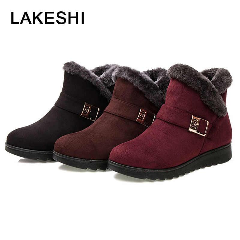 2019 แฟชั่นรองเท้าบู๊ทหิมะรองเท้าอุ่นผู้หญิงข้อเท้าฤดูหนาวหญิงรองเท้าบูทฤดูหนาวรองเท้าผู้หญิงรองเท้า Bota ผู้หญิง booties