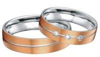 custom tailor rose gold color heath titanium rings jewelry for men and women