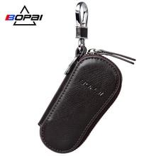 Genuine Leather Key Wallet Car Key Case Leather Key Holder Leather Car Wallet Key Bag for Women and Men Keychain Organizer