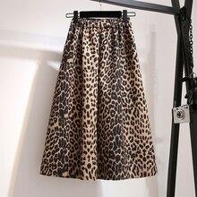 YICIYA plus size Leopard skirt satin for Women midi 3xl 4xl 5xl large zipper high waist vintage elegant 2019 yellow mid clothing