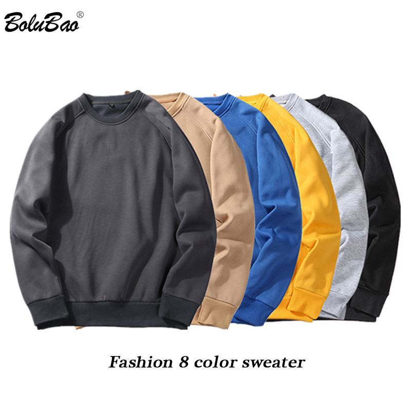 BOLUBAO Fashion Brand Men Hoodie Sweatshirt 2019 Spring Autumn Mens Sweatshirt Hoodies Men's Solid Color Long Sleeve Hoodies Top