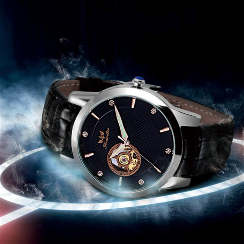Hot 1PC 1PC Men's Fashion Leather Band Mechanical Watch Wrist Watch  Z530 5Up платье conso wear conso wear co050ewwxj33