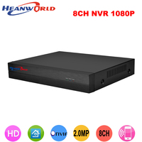 CCTV 8CH NVR Onvif H 264 HDMI High Definition 1080P Full HD 8CH Network Video Recorder
