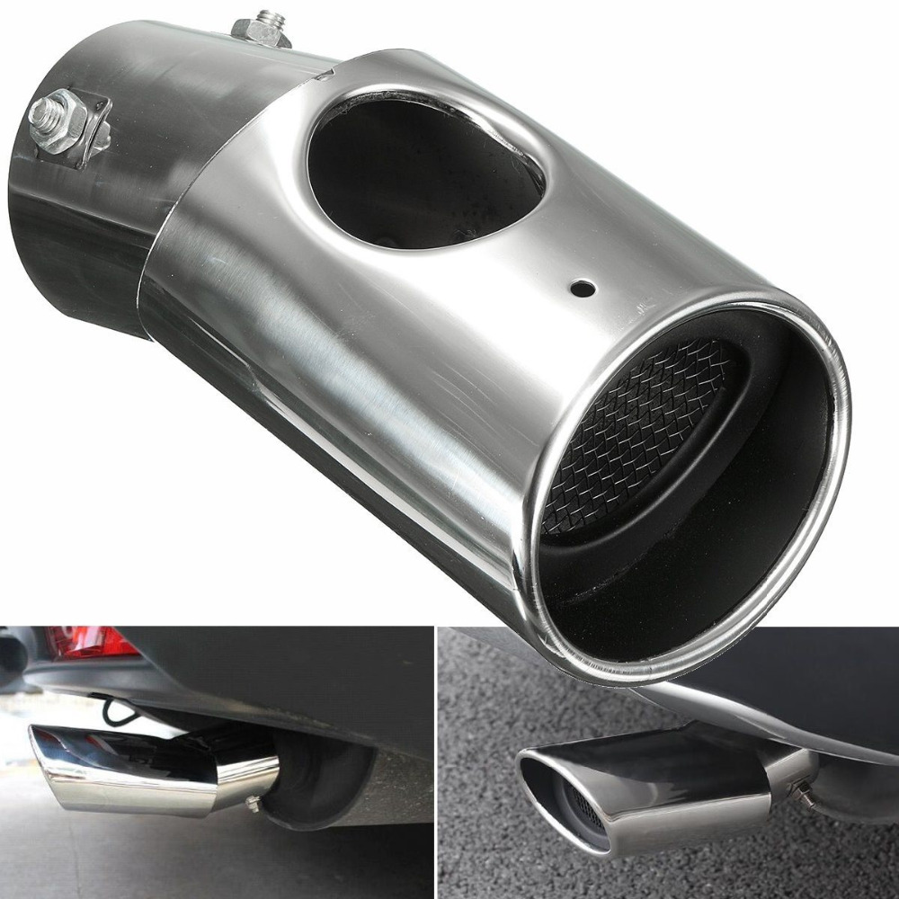 2Pcs Stainless Steel Silver Exhaust Muffler Tail Pipe Tip Tailpipe for Honda CRV CR-V 2017 Car Style Never Get Rust Free Shippip