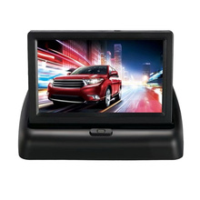 4.3 Inch LCD Display Folding Car Rearview Camera For Reverse Backup Parking Monitors