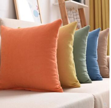 30x50/45x45/<font><b>50x50</b></font>/60x60cm Solid color pillowcase sofa cushion cover Nordic large cushion <font><b>case</b></font> for throw <font><b>pillow</b></font> cover home decor image