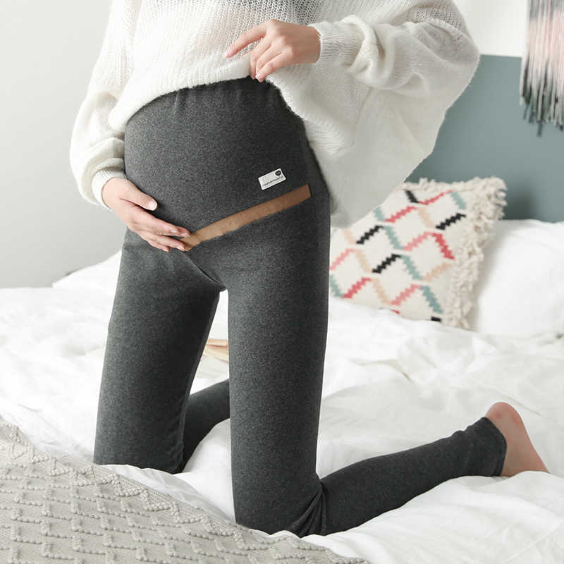 Spring Autumn New Belly Skinny Maternity Legging in Elastic Cotton Adjustable Waist Pencil Pregnancy Pants Clothes for Pregnant
