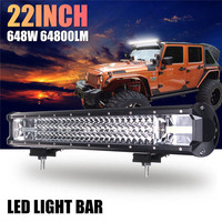 22 Inch 648W Auto LED Work Light Bar Flood Spot Combo Driving Lamp For Car Truck Offroad 2017 XR657