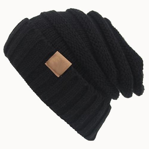 Women Fashion Winter Warm Woolen Yarn Crochet Knitted Beanie Hat Cap woolen yarn imitated wig knitted beard face hat for men and women