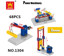 Educational Children Toys Building Blocks Power Windmill DIY Model Early Learning Toys Bricks Compatible With Legos 68pcs/set
