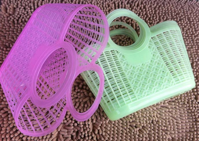 2017 Cheapest Soft hand Plastic Supermarket Vegetable Shopping Basket Storage Intoned Portable Cart  wholesale 10 pieces/pack
