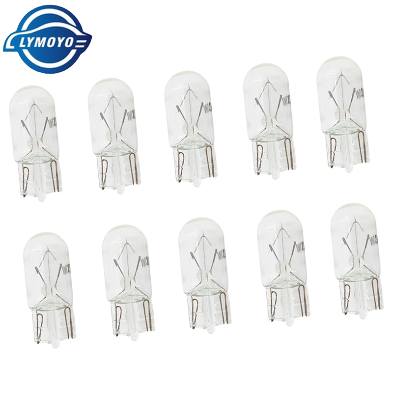 LYMOYO 500 pcs auto T10 W5W halogen bulbs 5w 12v 4500k warm white car internal Lights