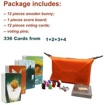 2019 dixit jeu de société 336 cartes beau sac en tissu avec des lapins en bois enfants jouets pour la fête à la maison amusant jeu de cartes