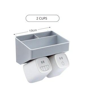 Image 5 - クリエイティブ歯ブラシホルダー歯カップため 2 人 3 人 4 人北欧スタイルシンプルなデザインの収納オーガナイザー