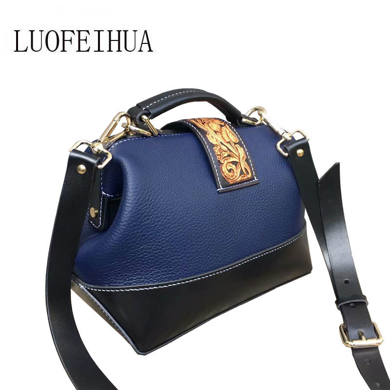 LUOFEIHUA 2019 new leather crossbody bag Handmade leather carving evening dress small square bag Chinese style brand bag femaleLUOFEIHUA 2019 new leather crossbody bag Handmade leather carving evening dress small square bag Chinese style brand bag female