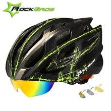 ROCKBROS Cycling Helmet 2018 Integrally-molded Road MTB Bike Helmet 32 Air Vents 3 Lens Bicycle Helmet Men Women Casque Velo