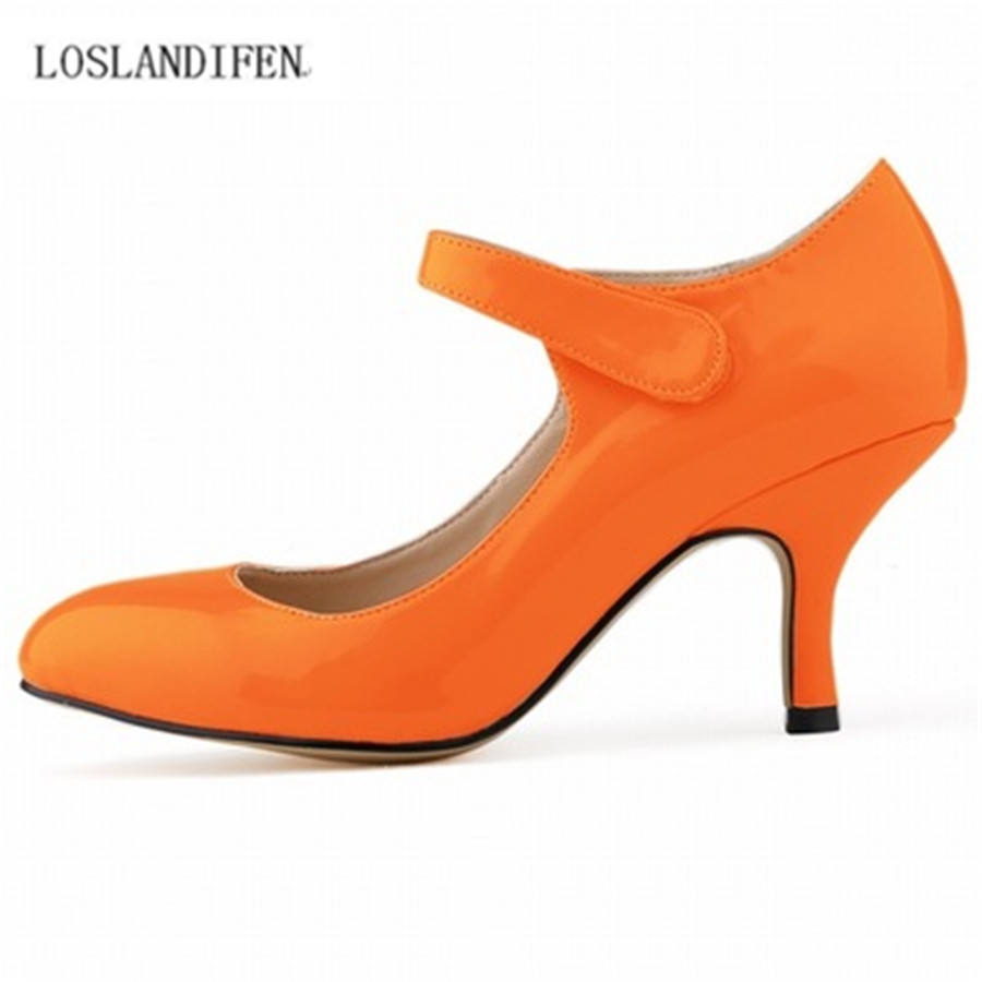 6cm Spike Heel Women's Wedding shoe bright PU comfortable 14 colors OL Lady's Single shoes pumps EUR35-42 Free Shipping