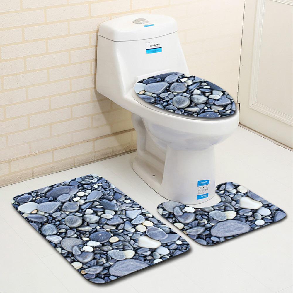 Groovy 3Pcs Set Bathroom Toilet Cover Seat Closestool Washable Soft Warmer Mat Toilet Seat Cushion Tx Unemploymentrelief Wooden Chair Designs For Living Room Unemploymentrelieforg