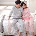 Primavera otoño algodón de los hombres pijamas parejas pareja cat para hombres pijamas ropa de dormir ropa de dormir de la historieta salón conjuntos de pijamas más tamaño 3xl