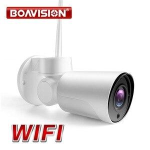 Image 1 - Drahtlose 1080P 2MP Mini PTZ IP Kamera WIFI Außen Onvif Audio P2P CCTV Sicherheit Wasserdichte Gewehrkugel Kamera Cam 2,7  13,5mm 5x Zoom