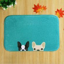 Socios Cachorro Casa Puerta Tapetes Dormitorio Felpudo Antideslizante Lindo Perro Azul Rojo Coral Alfombra Puerta Pad