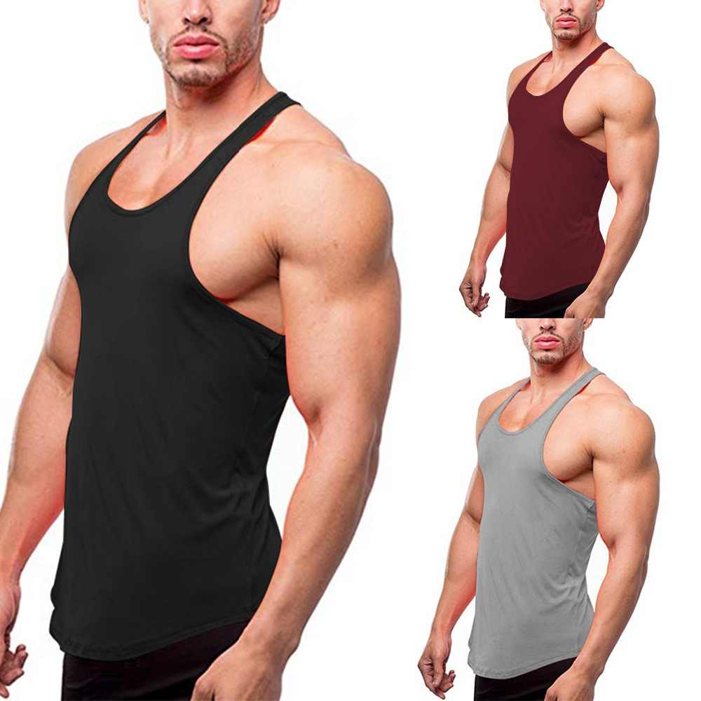 Mannen Activewear Tank Top Gym Spier Fit Mouwloze Sport Vest Stringer