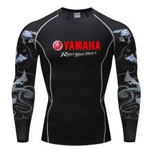 Motorcycle yamaha revs your heart printed T-Shirt Compression Shirts 3D Teen Wolf Jerseys Men Long Sleeve tshirt Fitness MMA(China)