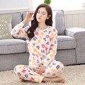 2016 Winter Pyjamas Women Warm Pijama Unicornio Letter Pattern Coral Velvet Pajamas Sets Femme Homewear Long Sleeve Sleepwear