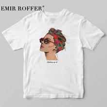 EMIR ROFFER 2019 moda fajny nadruk kobiet T-shirt białe bawełniane damskie koszulki lato Casual Harajuku T Shirt Femme Top tanie tanio Kobiety Topy Tees COTTON Na co dzień Suknem Krótki NONE REGULAR Drukuj O-neck X-WR001 Print Female T-shirt S M L XL Summer